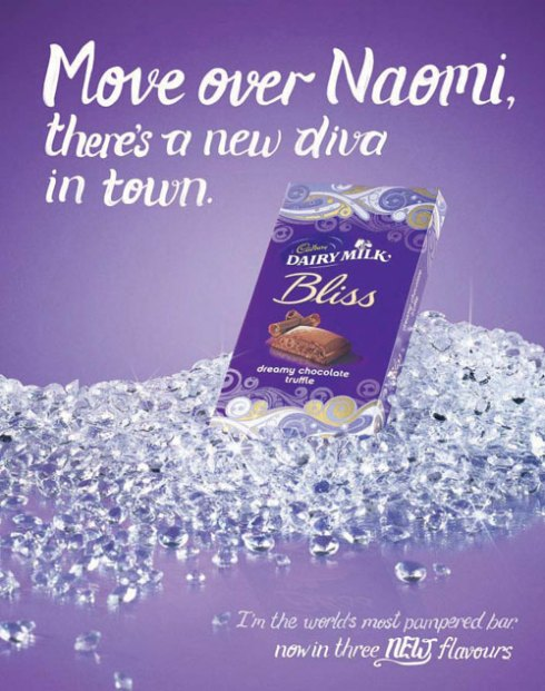 Cadbury Bliss chocolate's controversial ad using Naomi Campbell