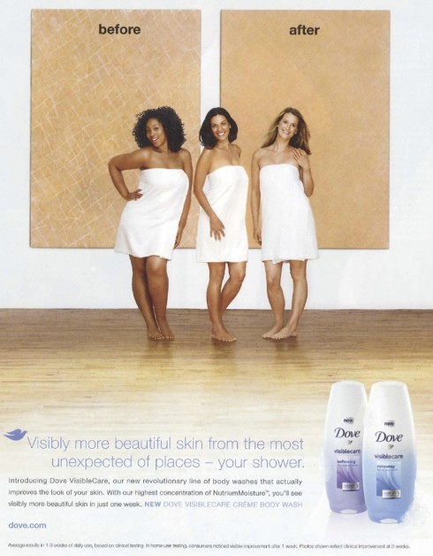 Dove body-wash's controversial ad featuring black, latina and white models