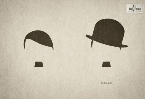 Had ad with Hitler and Charlie Chaplin