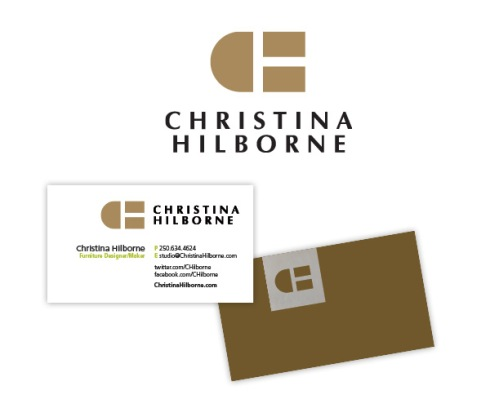 Victoria BC furniture maker Christina Hilborne's new brand ID