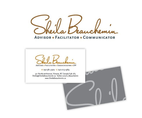 Victoria BC business consultant Sheila Beauchemin's new brand ID