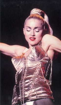 Madonna in Famous Gaultier Cone Bra