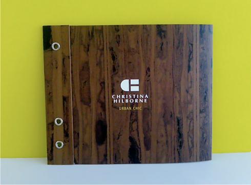 photo of the cover of Christina Hilborne's sales piece/catalogue