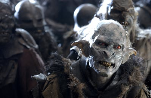 Orc photo from Lord of the Rings film