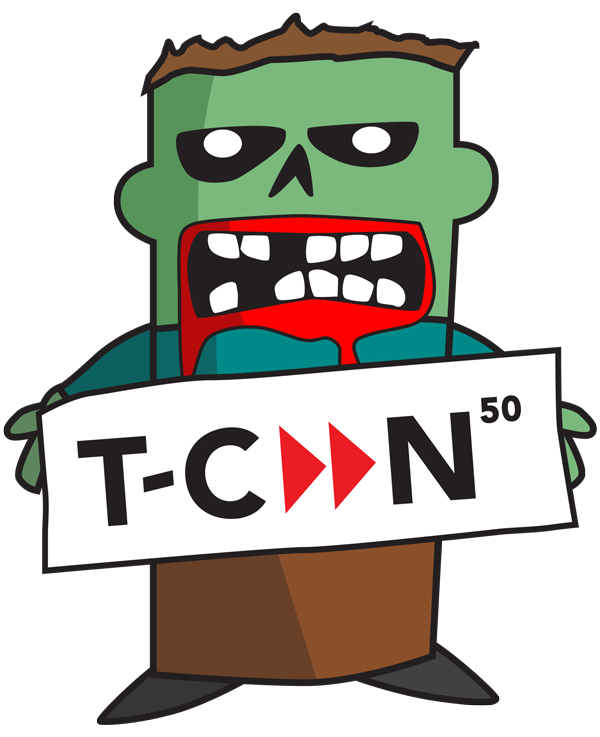 T-CAAN's 50th annual conference logo with a zombie