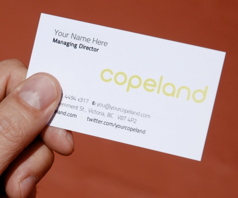 Copeland business card for Managing Director 4 A Day contest