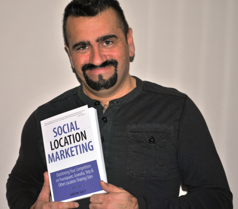 Author Simon Salt and his book Social Location Marketing