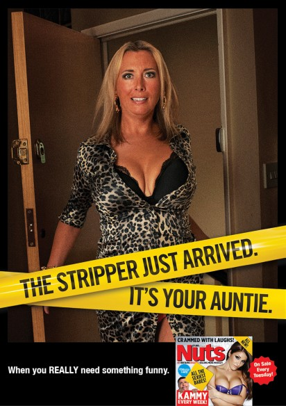 Nuts Magazine Stripper ad