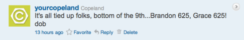 Copeland's Boss4aDay contest tweet 9