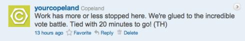 Copeland's Boss4aDay contest tweet 10