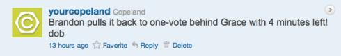 Copeland's Boss4aDay contest tweet 14