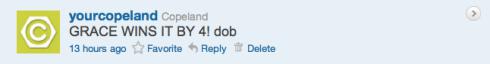 Copeland's Boss4aDay contest tweet 17