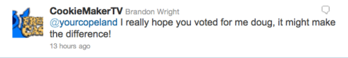 Brandon Wright contest tweet