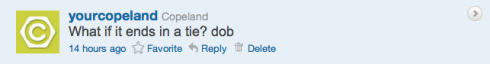 Copeland's Boss4aDay contest tweet 15