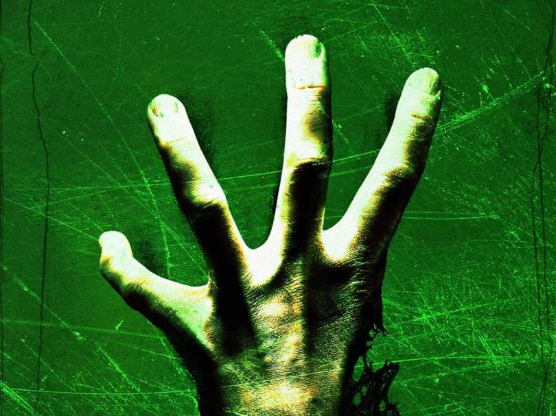 Zombie hand with four fingers