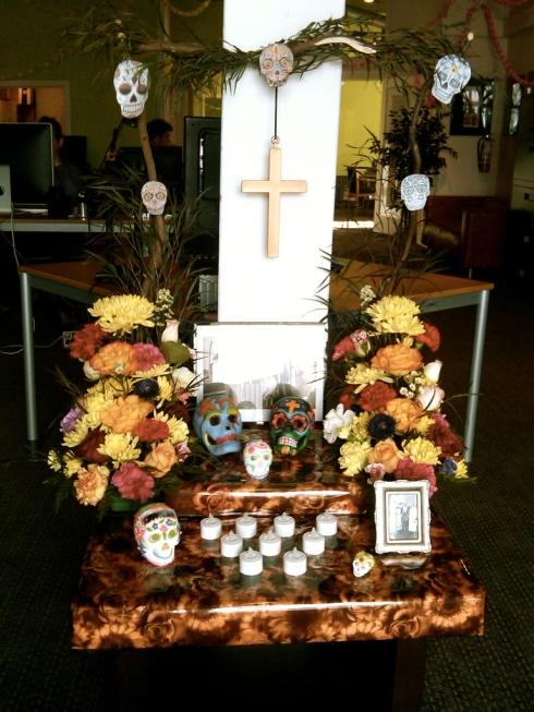 altar for Dia de los Muertos