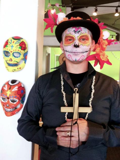 Facepaint for Dia de los Muertos