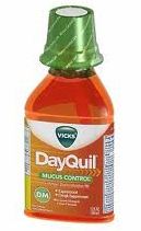 DayQuil with mucus control bottle