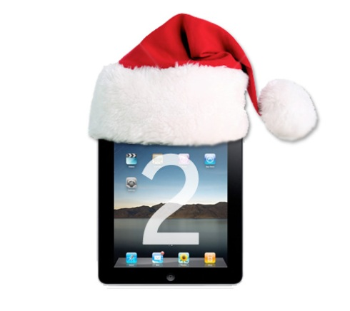 iPad 2 with Santa hat