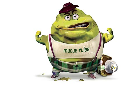 Mucus wearing a t-shirt