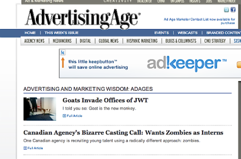 Copeland Zombies in Ad Age