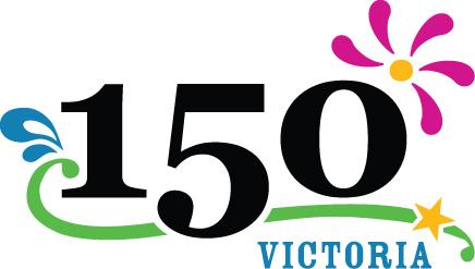 Logo for 150th anniversary of Victoria BC