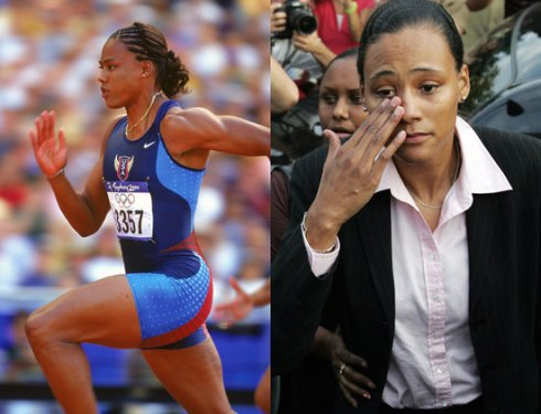 Marion Jones before and after