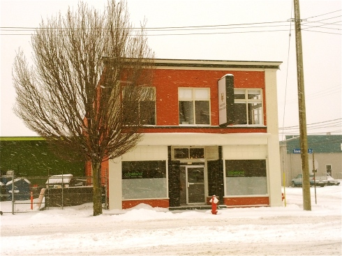 Copeland office in winter