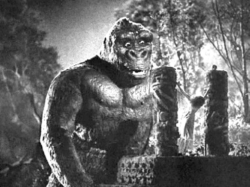 Fay Wray sacrificed to King Kong
