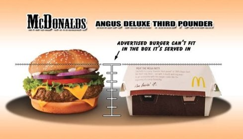McDonalds Angus burger too big for box