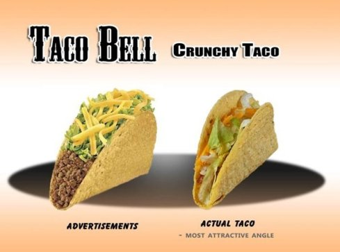 Taco Bell ad versus the real thing