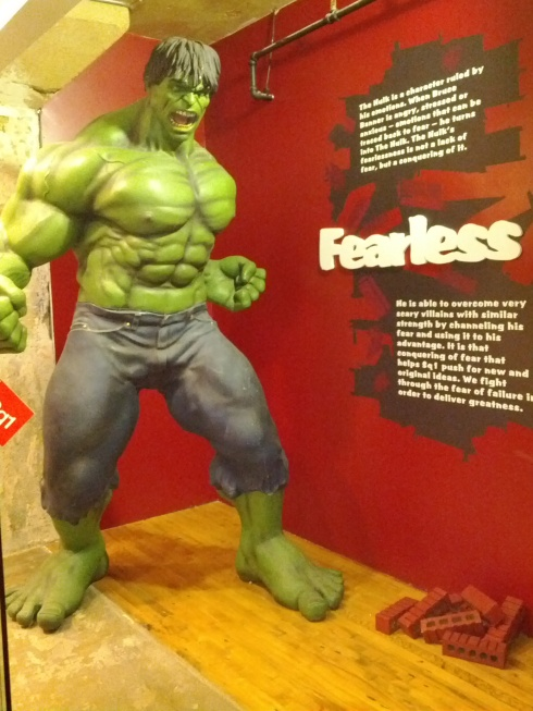 "Incredible Hulk ""fearless"" at Square1"