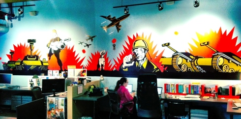 Creative department mural in Square1