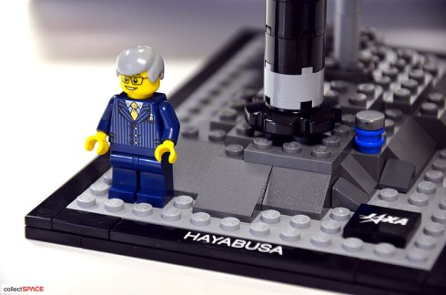 JAXA project manager Kawaguchi as a LEGO guy