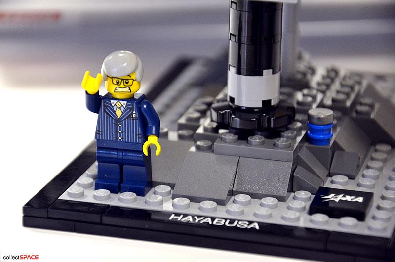 JAXA project manager Kawaguchi as unhappy LEGO guy