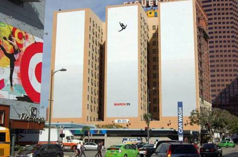 Falling man from controversial Mad Men Season 5 ad