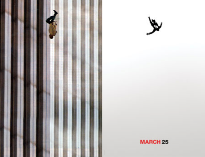 9/11 falling man and falling man from Mad Men ad Season 5